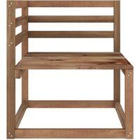 vidaXL Garden Pallet Corner Sofas 2 pcs Brown Impregnated Pinewood - Brown