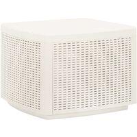 vidaXL Garden Table White 53x53x40 cm Plastic - White