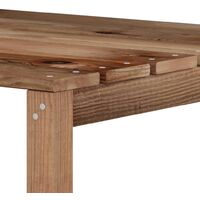 vidaXL Garden Pallet Corner Sofa Brown Impregnated Pine Wood - Brown