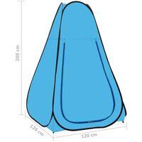 vidaXL Pop Up Shower Tent Blue