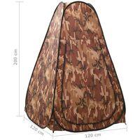 vidaXL Pop Up Shower Tent Camouflage