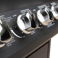 vidaXL Gas Barbecue Grill 4+1 Cooking Zone Black - Black