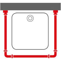 Sealskin Shower Curtain Rod Combi Chrome - Silver