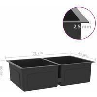 3072539 vidaXL Handmade Kitchen Sink Black Stainless Steel (51519) - Black