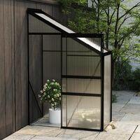 vidaXL Greenhouse Anthracite Aluminium 1.38 m³ - Anthracite