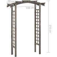 vidaXL Trellis Arch 150x50x220 cm Grey Impregnated Pinewood