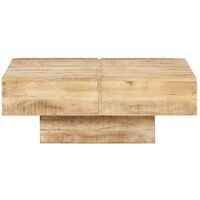 vidaXL Coffee Table 80x80x28 cm Solid Mango Wood - Brown