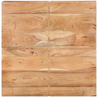 vidaXL Coffee Table 80x80x28 cm Solid Acacia Wood - Brown