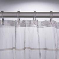 Sealskin Shower Curtain Screen 180x200 cm Transparent - Transparent