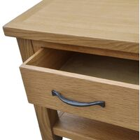 vidaXL Coffee Table 88x53x45 cm Solid Oak Wood - Brown