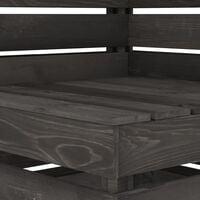 vidaXL Garden Pallet Corner Sofa Grey Impregnated Pinewood - Grey