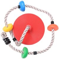 vidaXL Climbing Rope Swing with Platforms and Disc 200 cm - Brown