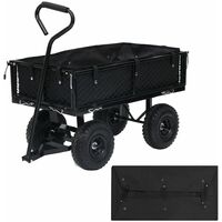 vidaXL Garden Cart Liner Black 86x46x22 cm Fabric - Black