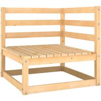vidaXL Garden Corner Sofa Solid Pinewood - Brown