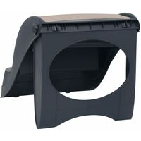 vidaXL Folding 3-Step Dog Stairs Dark Grey - Grey