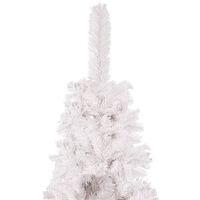 vidaXL Slim Christmas Tree White 210 cm