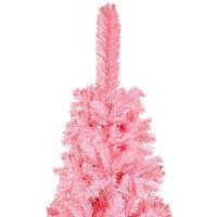 vidaXL Slim Christmas Tree Pink 150 cm