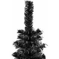vidaXL Slim Christmas Tree Black 150 cm