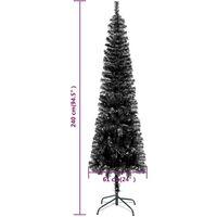 vidaXL Slim Christmas Tree Black 240 cm