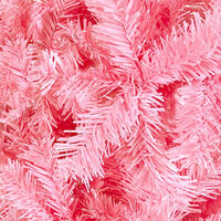 vidaXL Slim Christmas Tree Pink 240 cm