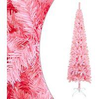 vidaXL Slim Christmas Tree Pink 210 cm