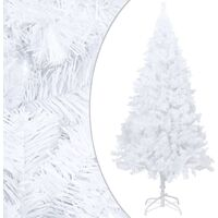 vidaXL Artificial Christmas Tree with Thick Branches White 120 cm PVC - White