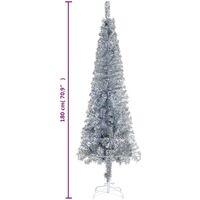 vidaXL Slim Christmas Tree Silver 180 cm