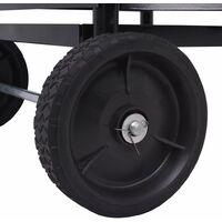 vidaXL Firewood Cart Iron 35x30x81 cm - Black
