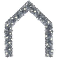 vidaXL Christmas Garland with LED Lights 5 m Silver - Silver