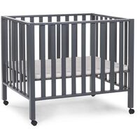 CHILDHOME Playpen Beech Anthracite PA94AN - Grey