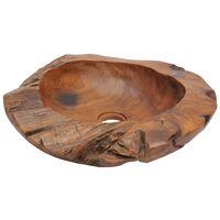 vidaXL Basin Solid Teak 45 cm - Brown