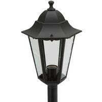 Smartwares Garden Post Light 60 W Black 125 cm - Black