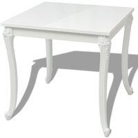 vidaXL Dining Table High Gloss White 80x80x76 cm - White