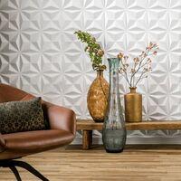 WallArt 3D Wall Panels Cullinans 12 pcs GA-WA17 - White