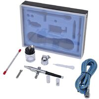 Airbrush Set with Glass Jar 0.2 / 0.3 / 0.5 mm Nozzles