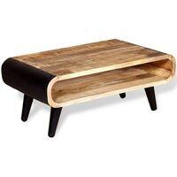 vidaXL Coffee Table Rough Mango Wood 90x55x39 cm - Multicolour