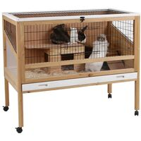 Kerbl Small Animal Cage Indoor Deluxe 115x60x92.5 cm Wood 82725 - Brown
