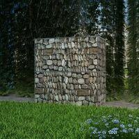 vidaXL Gabion Basket Galvanised Steel 100x50x100 cm - Silver