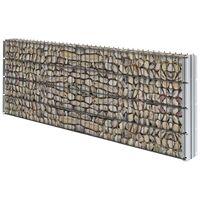 vidaXL 2D Gabion Fence Galvanised Steel 2.008x0.83 m 6 m (Total Length) Grey - Grey