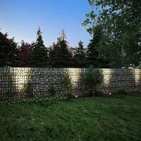 vidaXL 2D Gabion Fence Galvanised Steel 2.008x0.83 m 14 m (Total Length) Grey - Grey
