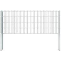 vidaXL 2D Gabion Fence Galvanised Steel 2.008x0.83 m 2 m (Total Length) Silver - Silver