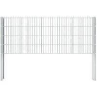 vidaXL 2D Gabion Fence Galvanised Steel 2.008x0.83 m 6 m (Total Length) Silver - Silver
