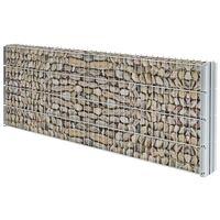 vidaXL 2D Gabion Fence Galvanised Steel 2.008x0.83 m 14 m (Total Length) Silver - Silver