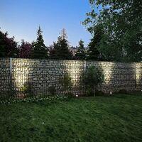 vidaXL 2D Gabion Fence Galvanised Steel 2.008x1.03 m 4 m (Total Length) Grey - Grey