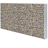 vidaXL 2D Gabion Fence Galvanised Steel 2.008x1.23 m 10 m (Total Length) Silver - Silver