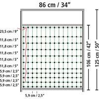 Kerbl Door for Electric Fence Nets 95-125 cm 446518 - Black