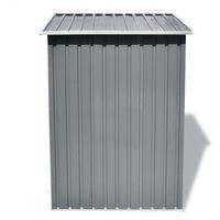 vidaXL Garden Storage Shed Grey Metal 204x132x186 cm - Grey