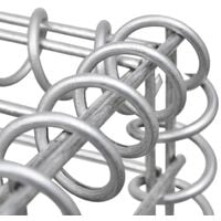 vidaXL Gabion Basket Galvanised Steel 200x30x100 cm - Silver