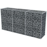 vidaXL Gabion Basket Galvanised Steel 200x50x100 cm - Silver