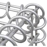 vidaXL Gabion Basket U-Shape Galvanised Steel 160x20x150 cm - Silver